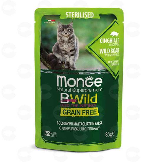 Picture of Պաուչ ստերիլիզացված կատուների համար Monge Bwild վայրի վարազի մսով