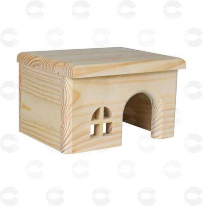 Picture of Խաղալիք կրծողների համար՝ փայտե տնակ